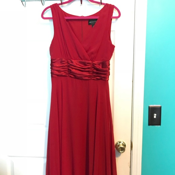 Red Empire Cocktail Dress
